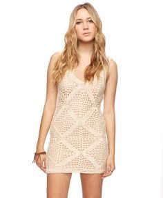 Forever 21 is the authority on fashion & the go-to retailer for the latest trends, styles & the hottest deals. Shop dresses, tops, tees, leggings & more! Crochet Summer Dresses, Sexy Summer Dresses, Nice Dresses, Knit Skirt, Knit Dress, I Love Fashion, Passion For Fashion, Forever 21, Crochet Clothes