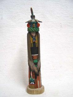Native American Hopi Eagle (Kwahu) Dancer Katsina Sculpture at Kachina House
