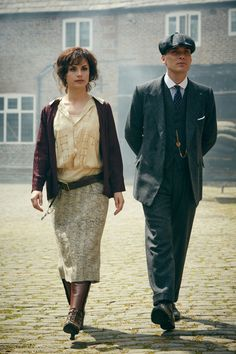 Charlotte Riley as May Carleton, and Cillian Murphy as Tommy Shelby in  'Peaky Blinders'