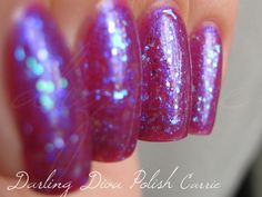 Darling Diva Carrie (shown over China Glaze Reggae to Riches)