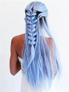 71 most popular ideas for blonde ombre hair color - Hairstyles Trends Ombre Hair Color, Blonde Ombre, Cool Hair Color, Ash Blonde, Blonde Wig, Hair Colors, Blonde And Blue Hair, Ombre Bob, Violet Hair