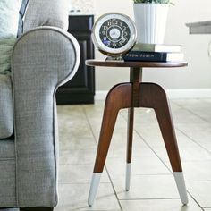 Learn how to build this modern, 3 leg end table from a single 1 x 8 x 8 board of wood.