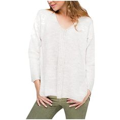 Women's V Neck Pullover Long Sleeve Side Slit Knitting Tunic Top * You can find out more details at the link of the image. (This is an affiliate link and I receive a commission for the sales) #Sweaters