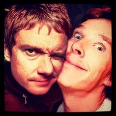 This is the greatest picture ever.  Martin Freeman and Benedict Cumberbatch