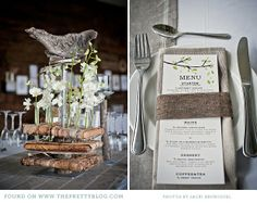 Menu in napkin.   botanical-natural-wedding-green-kwazulu-natal_039