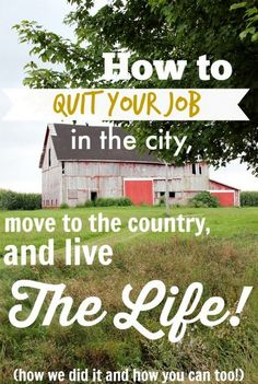 How To Quit Your Job - Move To The Country And Live The Life YOU Want??? Just live off your Mommy in HER retirement home in the country!