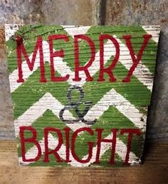 merry and bright wood sign - Bing Images