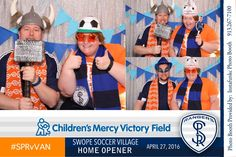 Check out these Happy Campers in the #instafunkcphotobooth at the Swope Park Rangers home opener game.