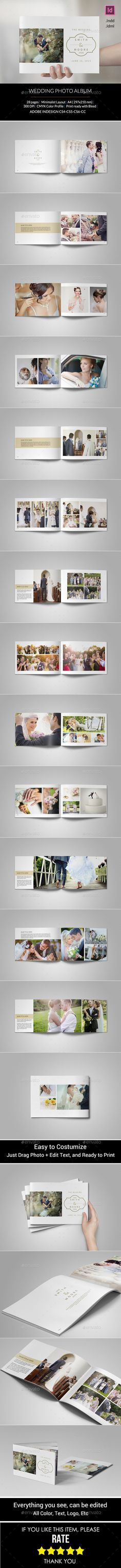 Simple Wedding Photo Album - Photo Albums Print Templates