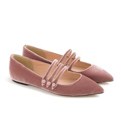 Crew Strappy Pointed-Toe Flats in Velvet Oxfords, Loafers, Cute Shoes, Me Too Shoes, Awesome Shoes, Strappy Heels, High Heels, Velvet Shoes, Velvet Slippers