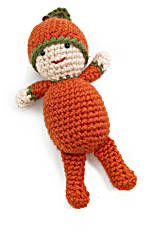 Image of Patrick the Pumpkin Boy - Free Lion Brand Yarn Pattern