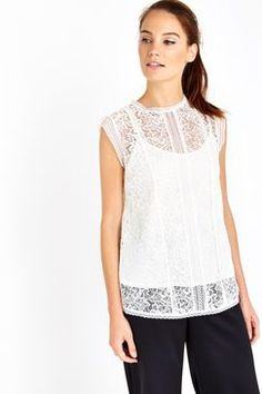White All Over Lace Shell Top