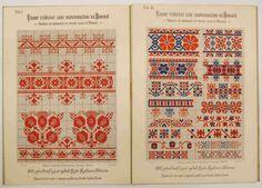 Moravian jacquard motifs for knitting Folk Embroidery, Cross Stitch Embroidery, Embroidery Patterns, Polish Folk Art, Filet Crochet Charts, Graph Design, Textile Patterns, Textiles, Cross Stitch Patterns