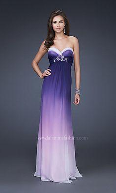 Purple and White Dresses