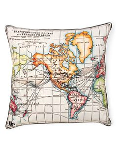 Pillow - Designer Francis Jens Spitta's cushion illustrates the paths of early telegraph lines.