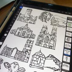 Scribbling some of my favourite Yorkshire landmarks today. ✨ Illustrators On Instagram, Scribble, Yorkshire, My Favorite Things, Illustration, Design, Doodles, Illustrations