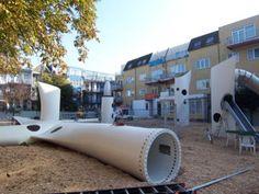 trash playground   Turbine trash turns into playground