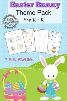 Easter Printable Preschool Worksheet Pack