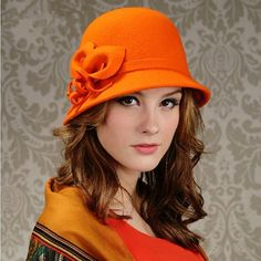 Sweet womens trilby hat flower decoration bowler hats for women
