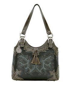 Look at this #zulilyfind! Bandana by American West Black Studded Shoulder Bag by Bandana by American West #zulilyfinds