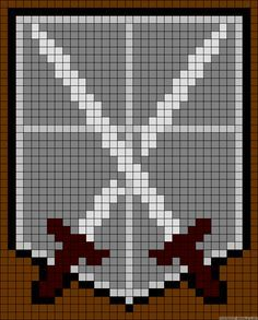 Shingeki no Kyojin | Attack on Titan | Training Corps | Friendship bracelet pattern