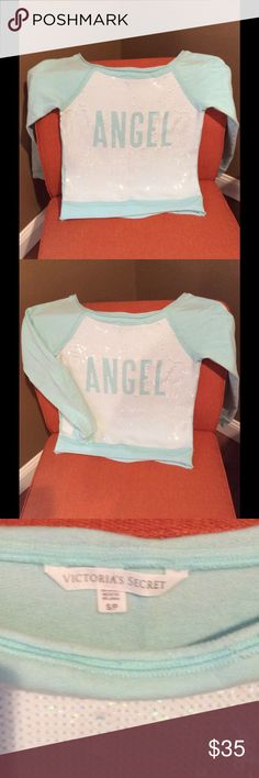 Victoria's Secret Angel Sequins sweatshirt Worn one time in perfect condition Victoria's Secret Sweaters Crew & Scoop Necks