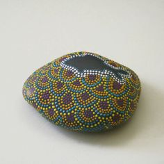Hand Painted Rock Fish Silhouette  Scale Pattern by JandEDesigns