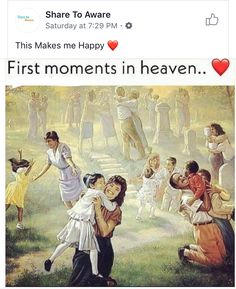 First Moments In Heaven - First Day In Heaven - Jesus Christ Print Painting Heaven Pictures, Paradise Pictures, Powerful Pictures, Best Funny Pictures, Statues, Heaven Is Real, Heaven Painting, Isaiah 25, Presence Of The Lord