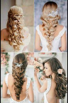Pretty wedding hair.