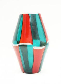 BIANCONI FOR VENINI MURANO RARE GLASS VASE  Pinned by a Taste Setter: www.thetastesetters.com