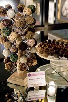 Brownie and cake pop display stand