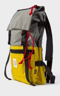 Topo Designs Rover Pack Yellow/Silver- Topo Designs Rover Pack Yellow/Silver To. Travel Backpack, Backpack Bags, Travel Bags, Fashion Backpack, Best Bags, Designer Backpacks, Cool Backpacks, Casual Bags, Cloth Bags