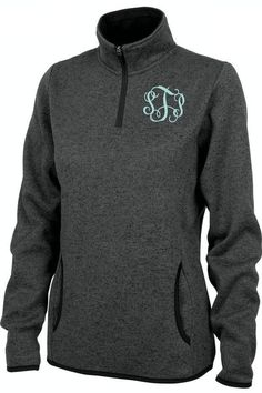 This comfortable pullover fleece has a quarter zip design, with front pockets and a unique heathered look. Perfect for cooler days! Please check the size chart. This item may run small. Personalize th