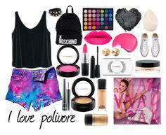 """Mac cosmetics"" by mafecastilloescobar on Polyvore featuring moda, WithChic, MANGO, Moschino, Eddie Borgo, Christian Dior, MAC Cosmetics y Converse"