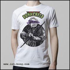 Ropa: Playera Hombre Diseños divertidos de memes tortugas ninja Ilustración Internet y Memes