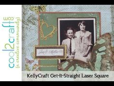 In this video, Candice Windham shares the new KellyCraft Multi-Mat and shows a scrapbook page layout with the KellyCraft Get-It-Straight Laser Square. Video was filmed in KellyCraft booth at CHA W '13.