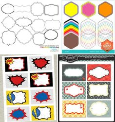 free superhero printables | Bargain Saturday: 6 Resources for Free and Cheap Downloadable Labels ...