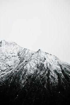 Himalayas - black and white