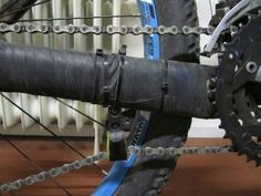 DIY chain tensioner for bicycle.  http://www.mtbtips.com/mountain-bike-maintenance- guides/how-to-make-a-chainstay-protector-guard/