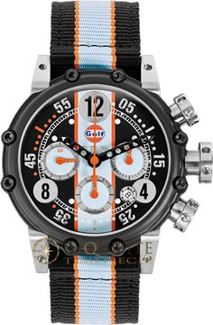 Exquisite Timepieces is an authorized dealer for BRM BT12-46 Gulf Limited Edition Titanium