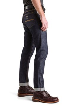Indigo Selvedge, Slim, Tapered - Raw Cone White Oak Jeans LC King Made in USA via BuyDirectUSA.com