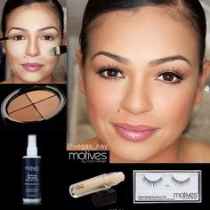 .@vegas_nay | Highlighting  Contouring with @motivescosmetics by @Loren Ridinger  ...