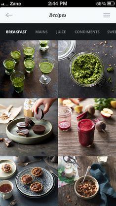 Présenter des recettes via des photos