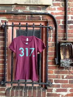 317 Cranberry w/ Teal Ink PUP Shirt by PUPshop on Etsy, $24.00