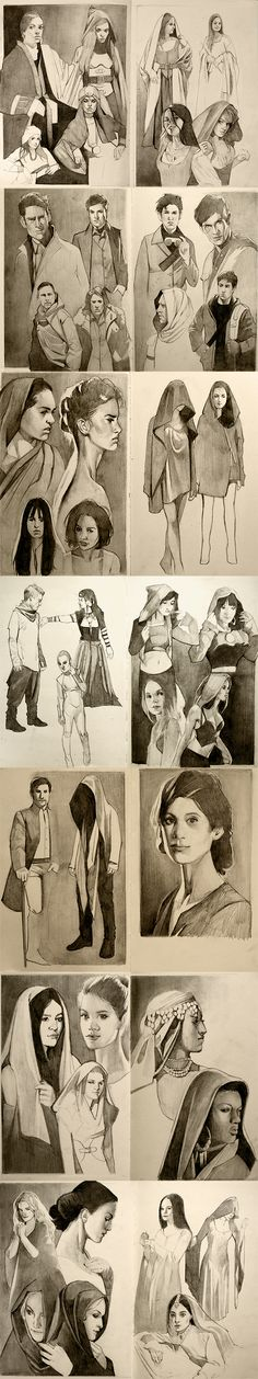 April sketchbook compilation by mannequin-atelier.deviantart.com on @deviantART