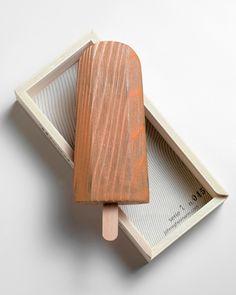 ユニークな木製のアイスクリームオブジェ [WOODEN POPSICLE] | COCOmag