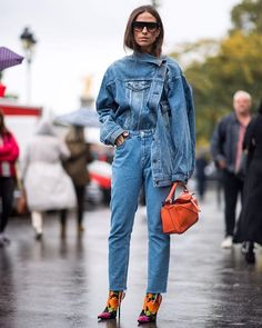 DO THE DOUBLE: This season head-to-toe denim is taking centre stage. From different washes to deconstructed cuts #THEEDIT shows you how to get it right. : @theurbanspotter via NET-A-PORTER MAGAZINE OFFICIAL INSTAGRAM - Celebrity  Fashion  Haute Couture  Advertising  Culture  Beauty  Editorial Photography  Magazine Covers  Supermodels  Runway Models