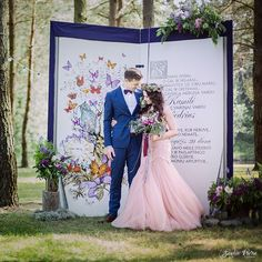 Whimsical woods theme wedding in Lithuania, Anykščiai / Bride and Groom