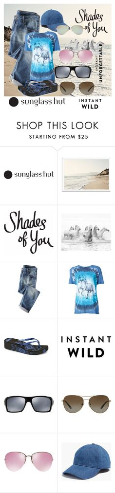"""Shades of You: Sunglass Hut Contest Entry"" by ffendi ❤ liked on Polyvore featuring Baja East, Muk Luks, Oakley, Tiffany & Co., Miu Miu, Madewell and shadesofyou"