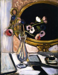 Anemones and Mirror Henri Matisse - circa 1920 Este quadro achei interessante devido a posição das flores e por ser atraente.